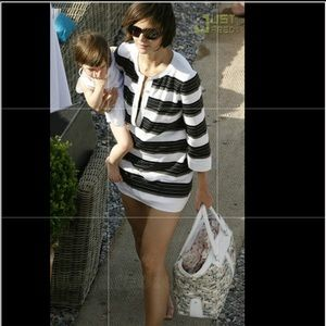 Tod's canvas tote as seen on Katie Holmes!!!